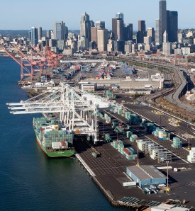Private use. The move towards public facilities is making ports more resilient. Photo Port of Seattle by Don Wilson