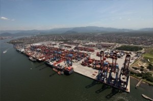Spoilt for choice. Distributing product in Brazil involves endless transportation choices. A new model helps shippers to choose the best routes. Pictured is the Port of Santos, Brazil.