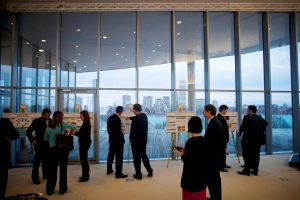 World view. Research Expo displays 70 to 80 supply chain research projects from multiple countries.