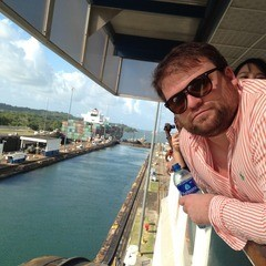 SCM Student Colin Brady enjoying the Panama Canal.