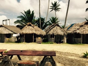 Huts on the San Blas Islands